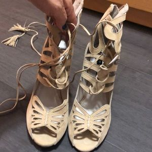 Alice + Olivia gladiator shoes, sandals